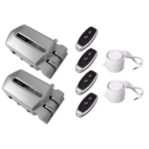 duo cerraduras invisibles con alarma plata 120db