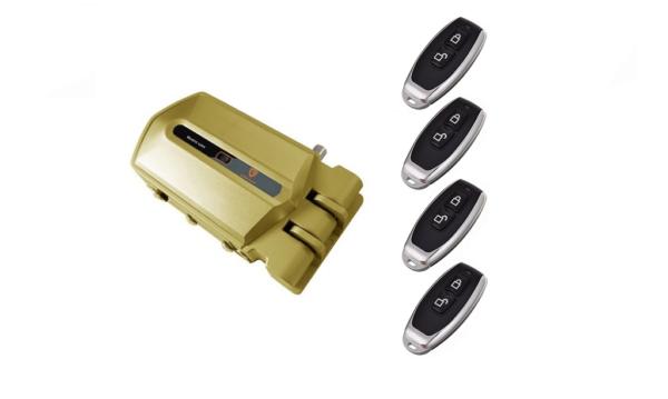 cerradura invisible dorada con alarma 95db