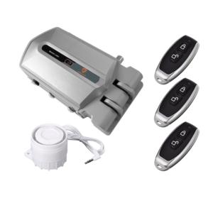 cerradura invisible con alarma 120db con mandos a distancia