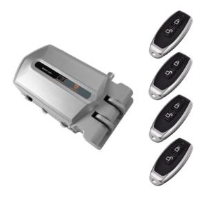 cerradura invisible plata con alarma 95db