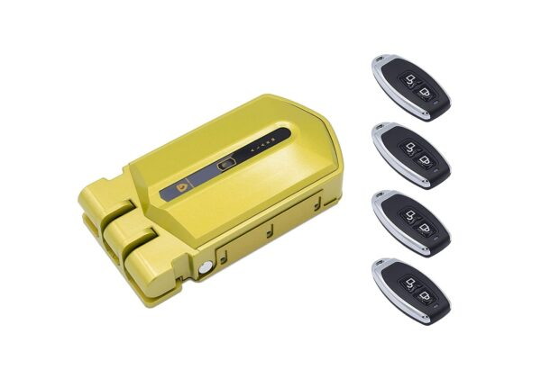 cerradura invisible con alarma dorada